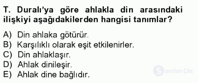 Türkiye'de Felsefenin Gelişimi II Bahar Final 13. Soru