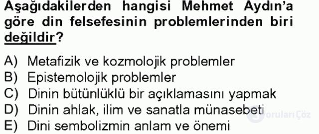 Türkiye'de Felsefenin Gelişimi II Bahar Final 18. Soru