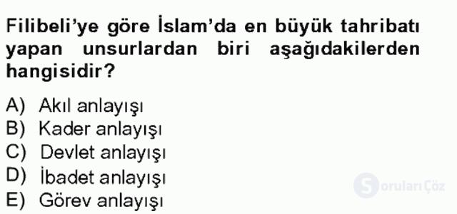 Türkiye'de Felsefenin Gelişimi II Bahar Final 19. Soru