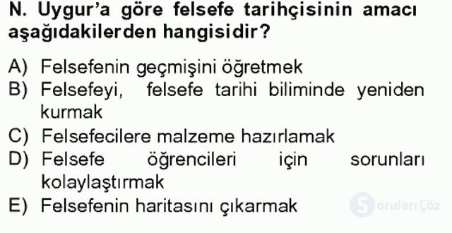 Türkiye'de Felsefenin Gelişimi II Bahar Final 3. Soru