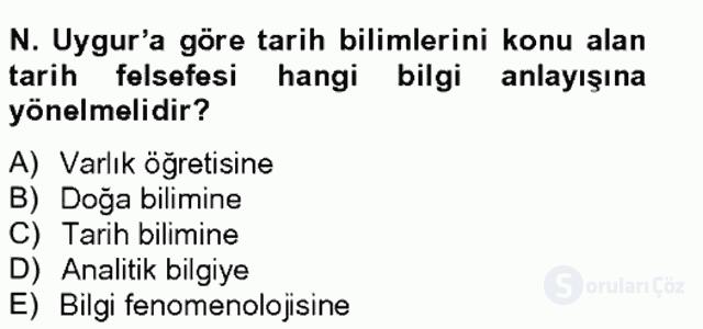 Türkiye'de Felsefenin Gelişimi II Bahar Final 6. Soru