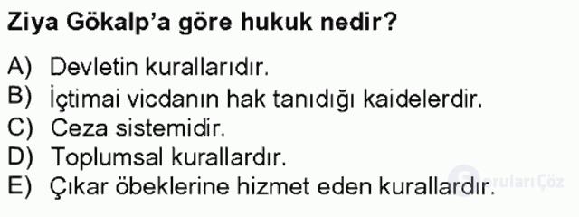 Türkiye'de Felsefenin Gelişimi II Bahar Final 9. Soru