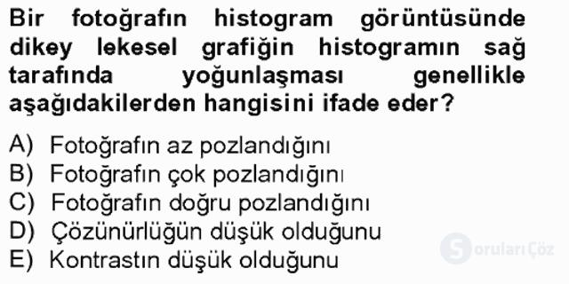 Sayısal Fotoğrafa Giriş Bahar Final 12. Soru