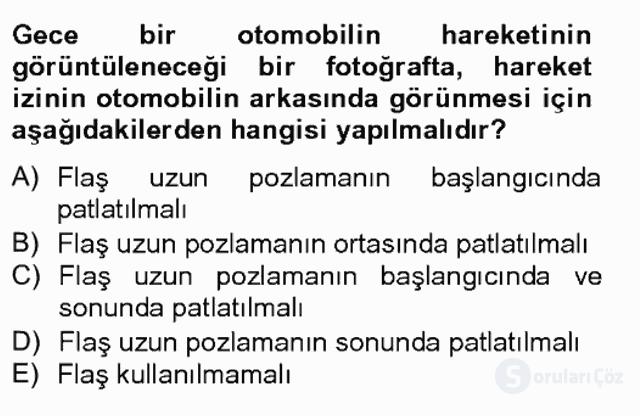 Sayısal Fotoğrafa Giriş Bahar Final 2. Soru
