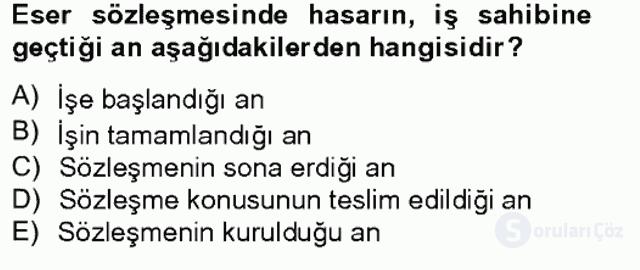 Medeni Hukuk II Bahar Final 1. Soru