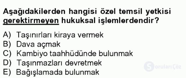 Medeni Hukuk II Bahar Final 12. Soru