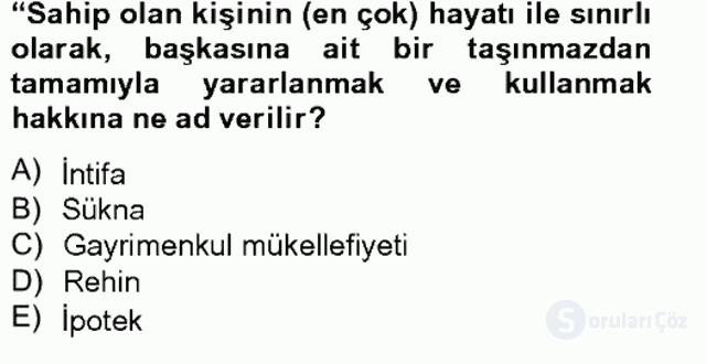 Özel Vergi Hukuku II Bahar Final 11. Soru