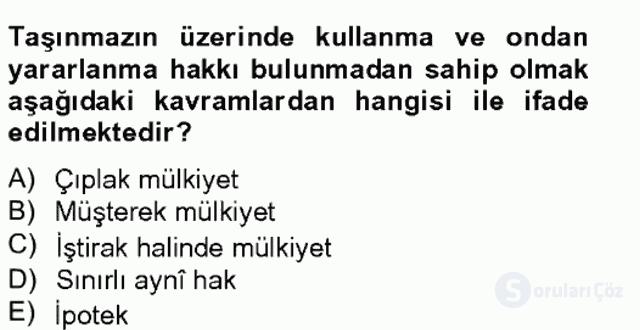 Özel Vergi Hukuku II Bahar Final 7. Soru
