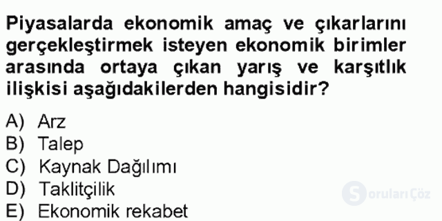 Bilgi Ekonomisi Bahar Final 19. Soru