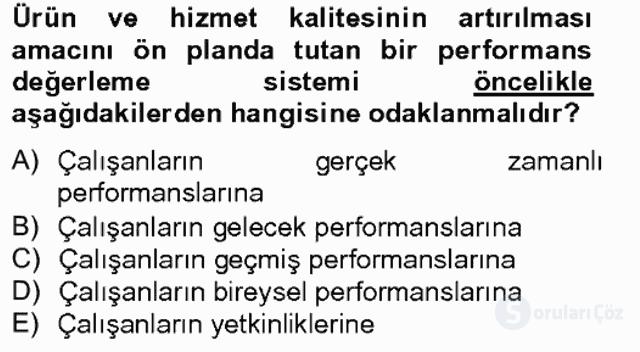 Performans Yönetimi Bahar Final 1. Soru