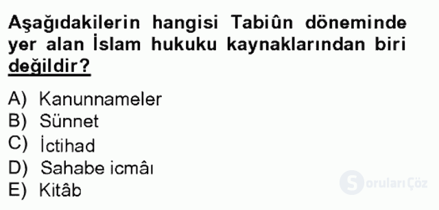 İslâm Hukukuna Giriş Bahar Final 2. Soru