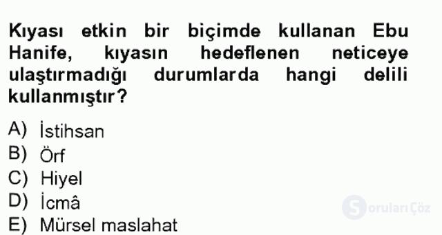İslâm Hukukuna Giriş Bahar Final 3. Soru