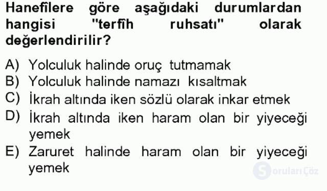 İslâm Hukukuna Giriş Bahar Final 7. Soru