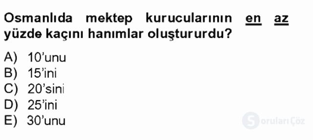İslâm Kurumları ve Medeniyeti Bahar Final 16. Soru