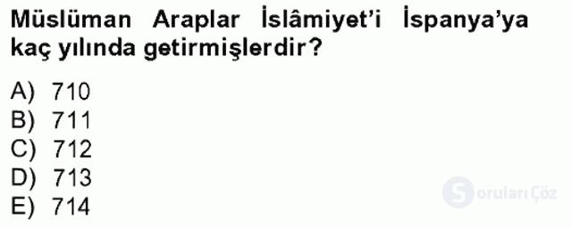 İslâm Kurumları ve Medeniyeti Bahar Final 3. Soru