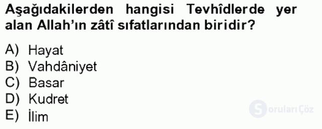 Türk İslâm Edebiyatı Bahar Final 14. Soru