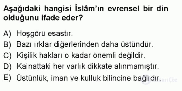 Din Eğitimi ve Din Hizmetlerinde Rehberlik Bahar Final 2. Soru