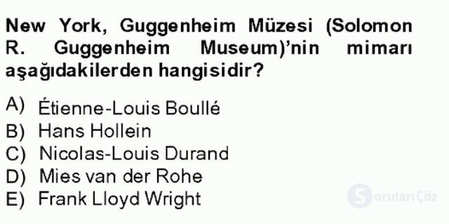 Müzecilik ve Sergileme Bahar Final 18. Soru