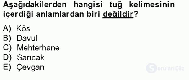 Türkiye'nin Kültürel Mirası II Bahar Final 15. Soru