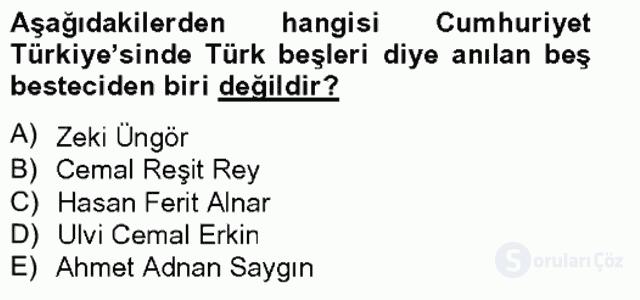 Türkiye'nin Kültürel Mirası II Bahar Final 17. Soru