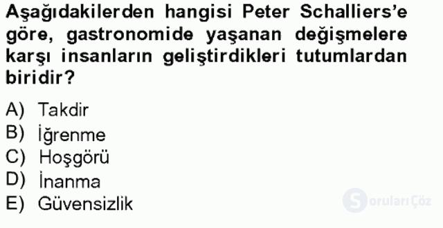 Türkiye'nin Kültürel Mirası II Bahar Final 19. Soru