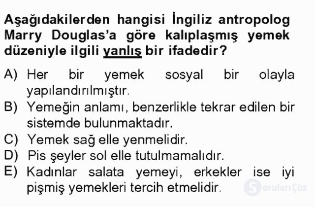 Türkiye'nin Kültürel Mirası II Bahar Final 20. Soru