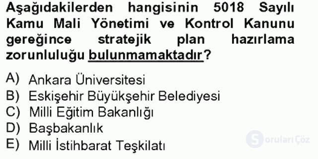 Yönetim Bilimi II Bahar Final 1. Soru