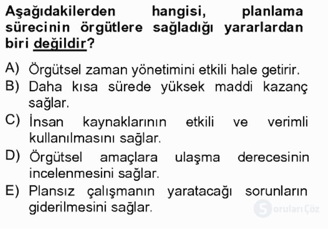 Türk Eğitim Sistemi ve Okul Yönetimi Bahar Final 14. Soru