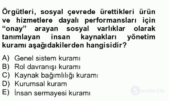 Türk Eğitim Sistemi ve Okul Yönetimi Bahar Final 20. Soru