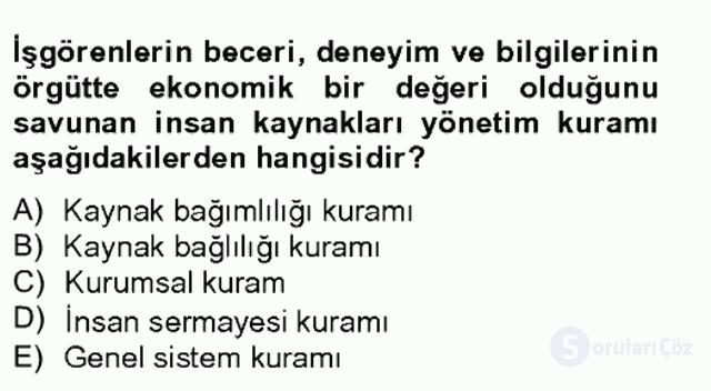 Türk Eğitim Sistemi ve Okul Yönetimi Bahar Final 3. Soru