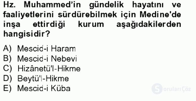 İslam Tarihi ve Medeniyeti II Bahar Final 15. Soru