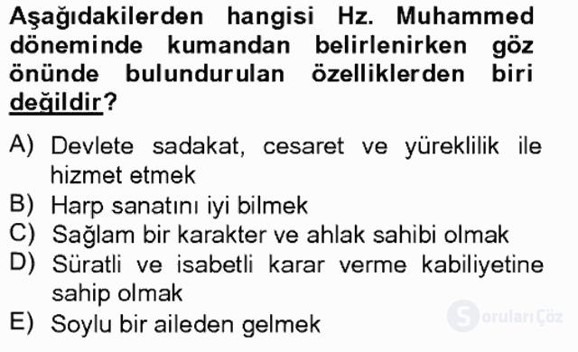 İslam Tarihi ve Medeniyeti II Bahar Final 9. Soru