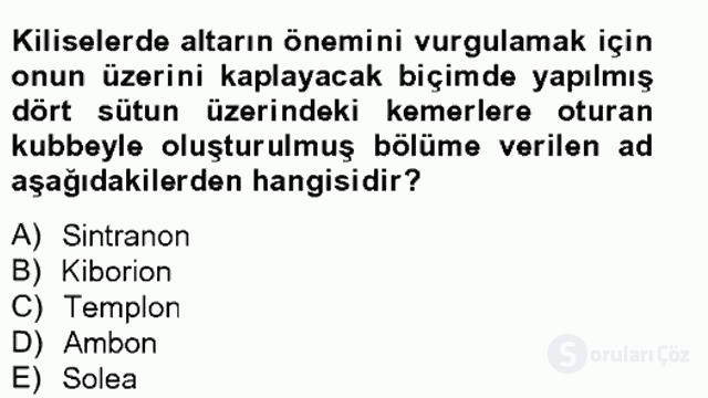 Bizans Tarihi Bahar Final 18. Soru