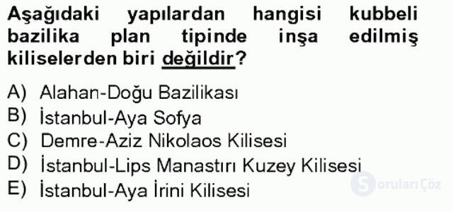 Bizans Tarihi Bahar Final 19. Soru