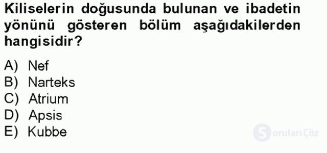 Bizans Tarihi Bahar Final 20. Soru