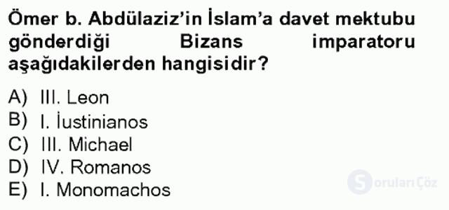 Bizans Tarihi Bahar Final 3. Soru