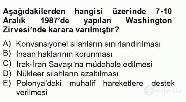 Siyasi Tarih II Bahar Final 14. Soru