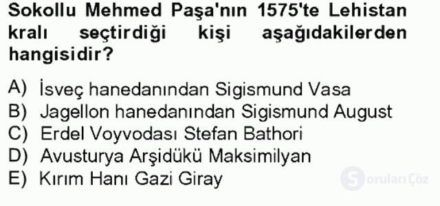 Osmanlı Tarihi (1566–1789) Bahar Final 1. Soru