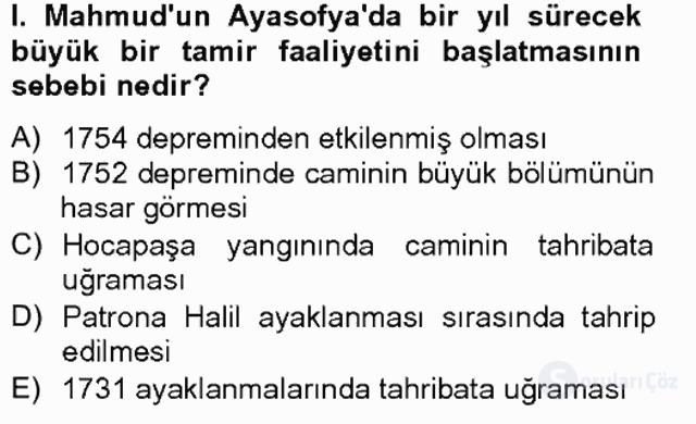 Osmanlı Tarihi (1566–1789) Bahar Final 16. Soru