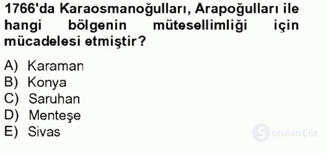 Osmanlı Tarihi (1566–1789) Bahar Final 19. Soru