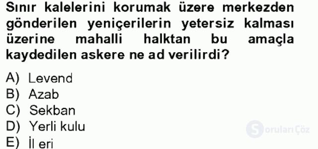 Osmanlı Tarihi (1566–1789) Bahar Final 4. Soru