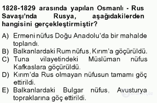 Osmanlıda İskan ve Göç Bahar Final 13. Soru