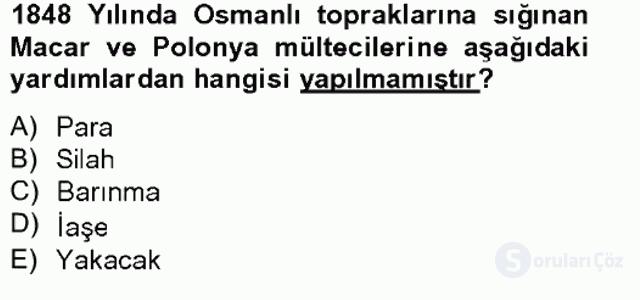 Osmanlıda İskan ve Göç Bahar Final 16. Soru