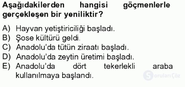 Osmanlıda İskan ve Göç Bahar Final 20. Soru