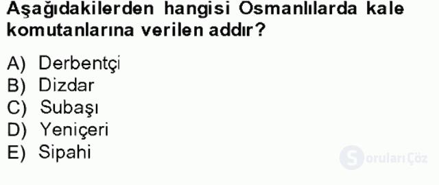 Osmanlıda İskan ve Göç Bahar Final 8. Soru