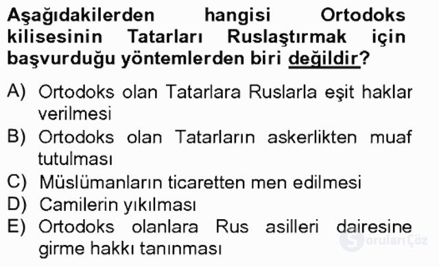 Rusya Tarihi Bahar Final 10. Soru