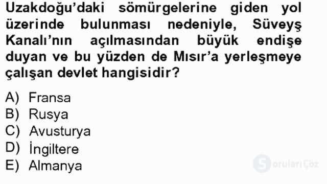Osmanlı Tarihi (1789–1876) Bahar Final 16. Soru