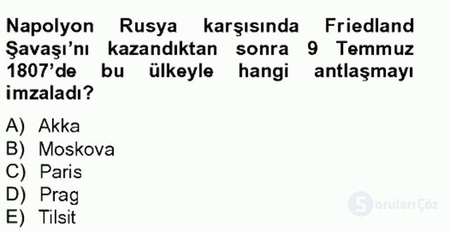 Osmanlı Tarihi (1789–1876) Bahar Final 5. Soru