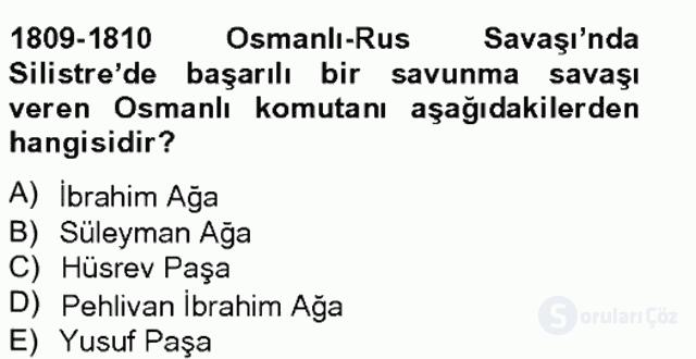 Osmanlı Tarihi (1789–1876) Bahar Final 6. Soru