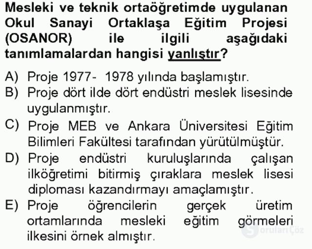 Türk Eğitim Tarihi Bahar Final 10. Soru